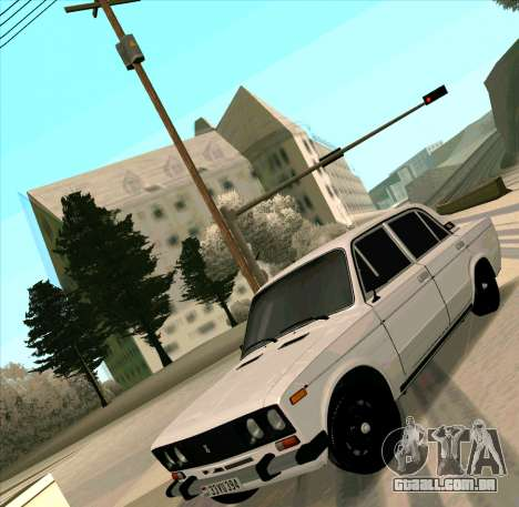 VAZ 2106 [ARM] para GTA San Andreas vista traseira