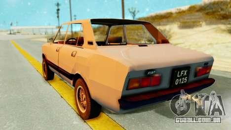 Fiat 132 para GTA San Andreas esquerda vista