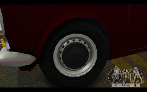 Fiat 124 para GTA San Andreas vista direita