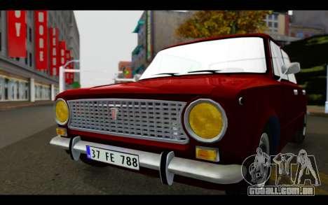 Fiat 124 para GTA San Andreas vista traseira