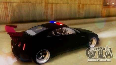 Nissan GT-R Police Rocket Bunny para GTA San Andreas traseira esquerda vista