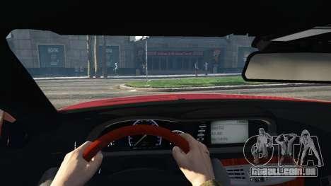 GTA 5 Mercedes-Benz E63 AMG v2.1 traseira direita vista lateral