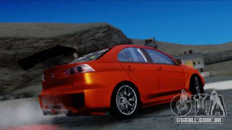 Mitsubishi Lancer Evolution X Tunable New PJ para GTA San Andreas vista traseira