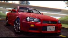 Nissan Skyline R-34 GT-R V-spec 1999 No Dirt para GTA San Andreas