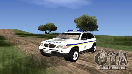 BMW X5 Ukranian Police para GTA San Andreas