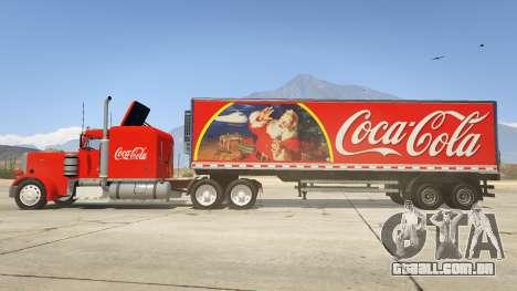 GTA 5 Coca Cola Truck v1.1 vista lateral esquerda