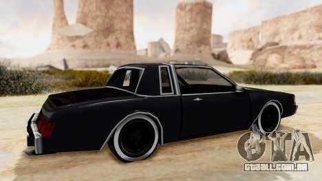 MajesticX para GTA San Andreas traseira esquerda vista
