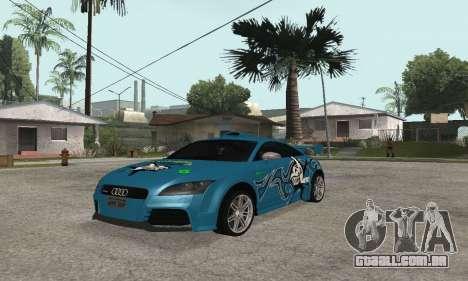 Audi TT-RS Tunable para GTA San Andreas vista traseira