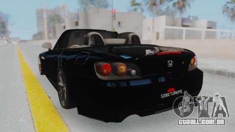 Honda S2000 para GTA San Andreas esquerda vista
