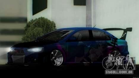 Mitsubishi Lancer X by Venceslav Sexy para GTA San Andreas vista direita