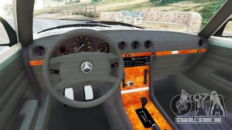 GTA 5 Mercedes-Benz 350 SL (R107) traseira direita vista lateral