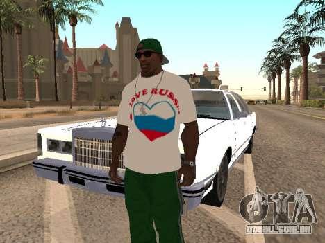 T-shirt I love Rússia para GTA San Andreas