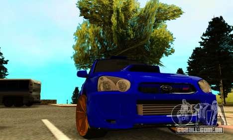 Subaru Impreza WRX STI Spec-C para GTA San Andreas vista traseira