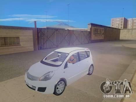 Nissan Note v1.0 Final para GTA San Andreas