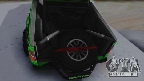 Ford F-150 SVT Raptor 2012 para GTA San Andreas vista traseira