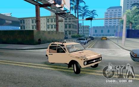 VAZ Niva para vista lateral GTA San Andreas