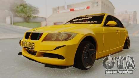 BMW M3 E90 para GTA San Andreas vista direita