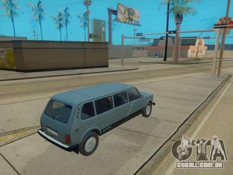 ВАЗ 2131 7-porta [HQ Versão] para GTA San Andreas vista traseira