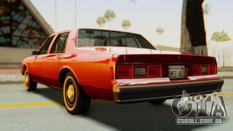 Chevrolet Impala 1984 para GTA San Andreas traseira esquerda vista