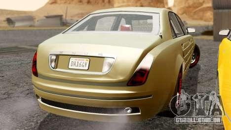GTA 5 Enus Cognoscenti L Arm IVF para GTA San Andreas traseira esquerda vista