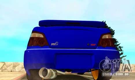 Subaru Impreza WRX STI Spec-C para GTA San Andreas vista direita