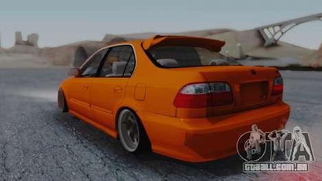 Honda Civic EG Ferio para GTA San Andreas esquerda vista