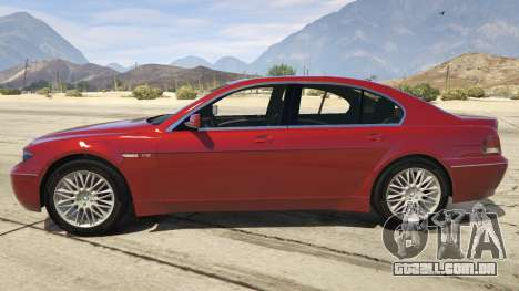GTA 5 BMW 760i E65 vista lateral esquerda