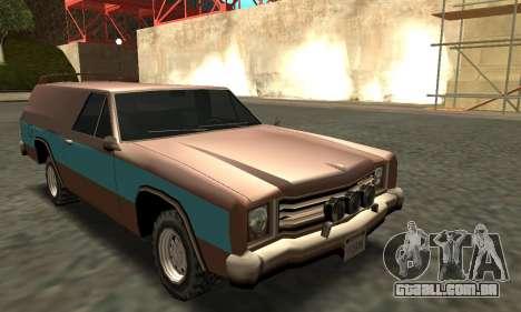 Picador Vagon Extreme para GTA San Andreas vista traseira