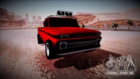 Chevrolet C10 Rusty Rebel para GTA San Andreas vista interior