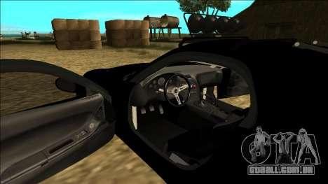 Mazda RX-7 Rusty Rebel para GTA San Andreas vista inferior