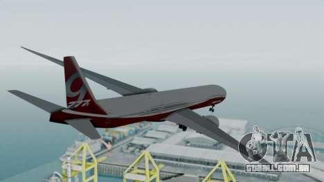 Boeing 777-9x House para GTA San Andreas vista direita