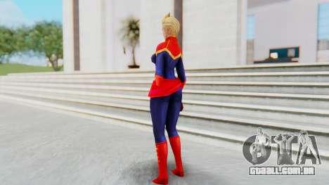 Marvel Future Fight - Captain Marvel para GTA San Andreas terceira tela