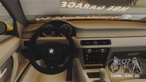BMW M3 E90 para GTA San Andreas vista traseira
