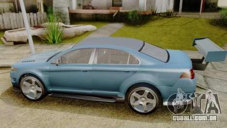 GTA 5 Vapid Greenwood para GTA San Andreas traseira esquerda vista