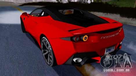 Arrinera Hussarya v2 Carbon para GTA San Andreas traseira esquerda vista