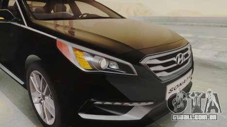 Hyundai Sonata Turbo 2.0 2015 V1.0 Final para GTA San Andreas vista traseira