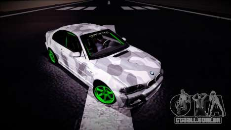 BMW M3 E46 Drift Monster Energy para GTA San Andreas vista direita