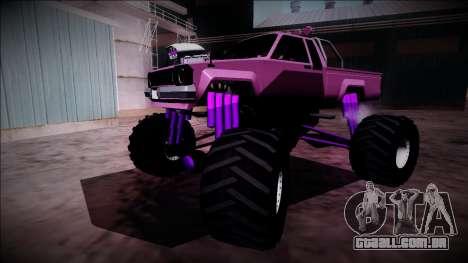 GTA 5 Karin Rebel Monster Truck para GTA San Andreas vista inferior