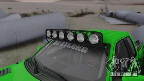 Ford F-150 SVT Raptor 2012 para GTA San Andreas vista interior