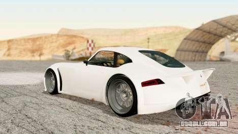 GTA 5 Bravado Verlierer Stock para GTA San Andreas esquerda vista