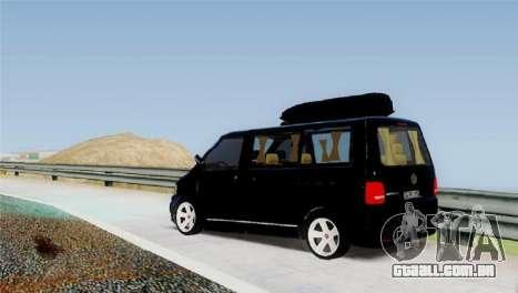 Volkswagen bus By.Snebes para GTA San Andreas traseira esquerda vista