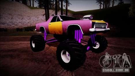 Picador Monster Truck para GTA San Andreas vista direita
