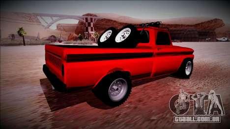 Chevrolet C10 Rusty Rebel para GTA San Andreas traseira esquerda vista