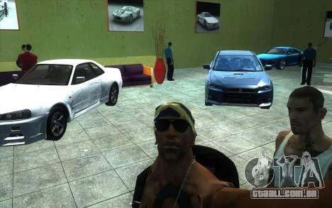 O renascimento da concessionária de carros Ottos para GTA San Andreas por diante tela