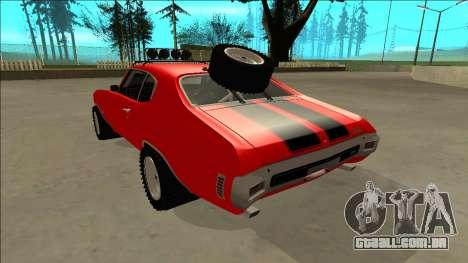 Chevrolet Chevelle Rusty Rebel para GTA San Andreas