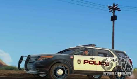 Ford Explorer Police para GTA San Andreas esquerda vista