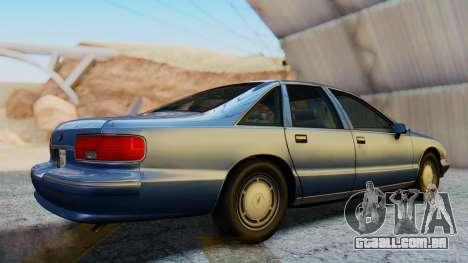 Chevrolet Caprice 1993 para GTA San Andreas vista direita