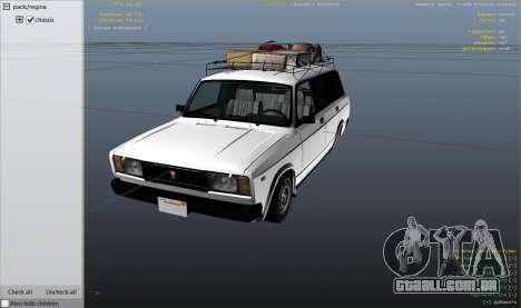 GTA 5 VAZ 2104 vista lateral direita