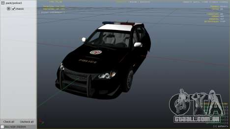 GTA 5 LAPD Subaru Impreza WRX STI vista lateral direita