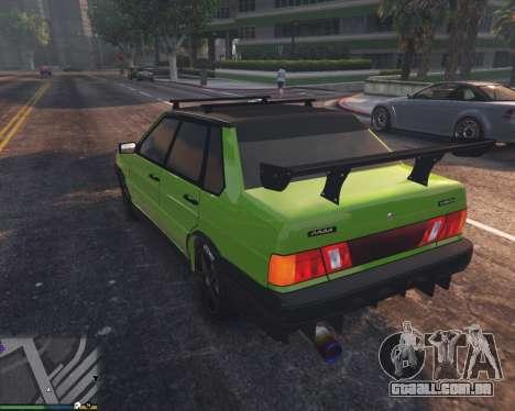 GTA 5 VAZ 2115 traseira vista lateral esquerda